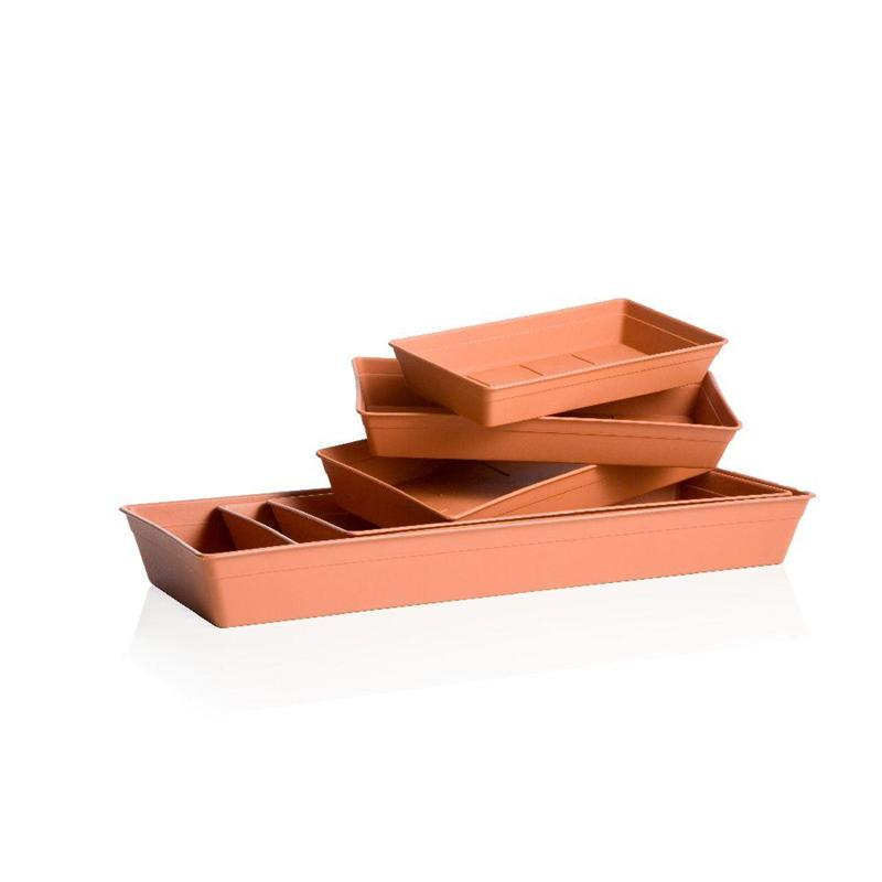 Rectangular saucers