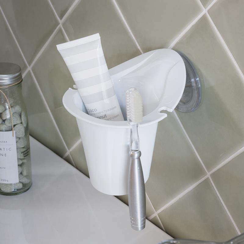 WHITE TOOTH BRUSH HOLDER (WITH SCREWS)