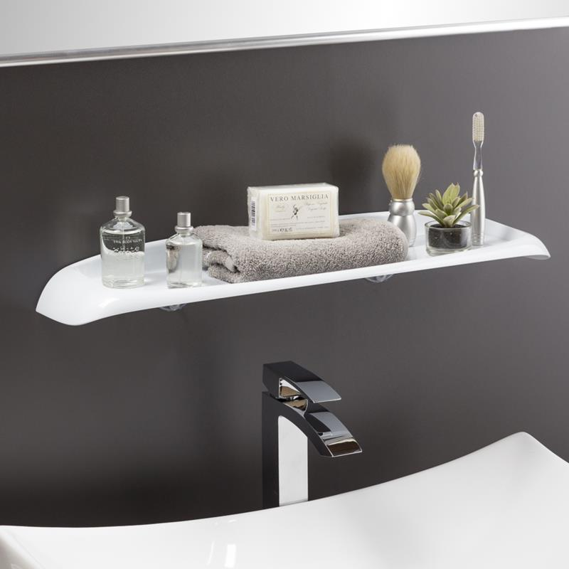 WHITE BATH SHELF (WITH SCREW)