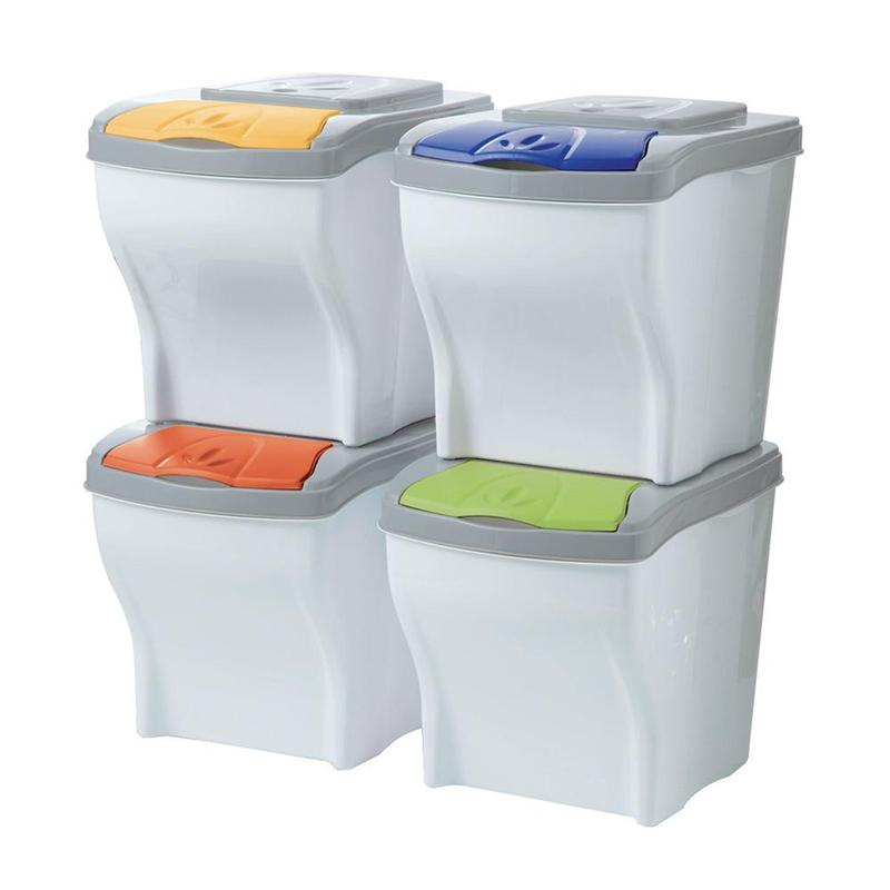 Modular dustbin Poker set 4 x 20 lt